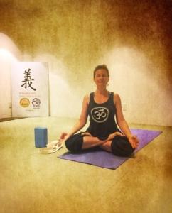 Yoga instructor Tatiana